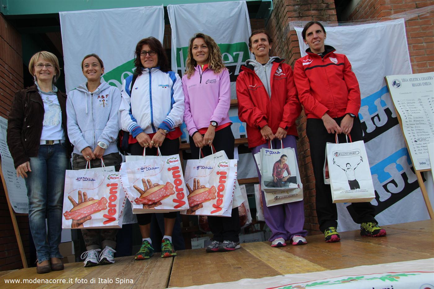 """I vincitori della """"Camminata di San Luca"""", Correggio 13 ottobre 2013"""