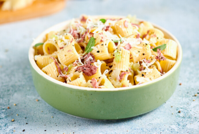 Salami & Pecorino Cheese Pasta